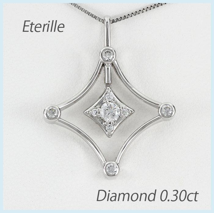 【10%OFF】ダイヤモンド ネックレス 18k ペンダント レディース スター 星 揺れる スイング ブラ ゴールド k18 18金