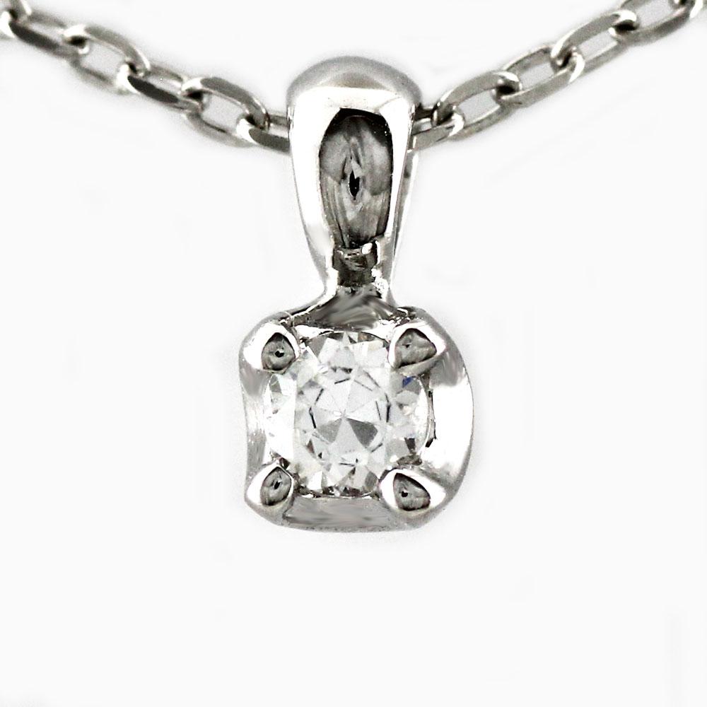 【10%OFF】ダイヤモンド ネックレス 一粒 18k ペンダント レディースダイヤ 1粒 シンプル プチ ゴールド k18 18金