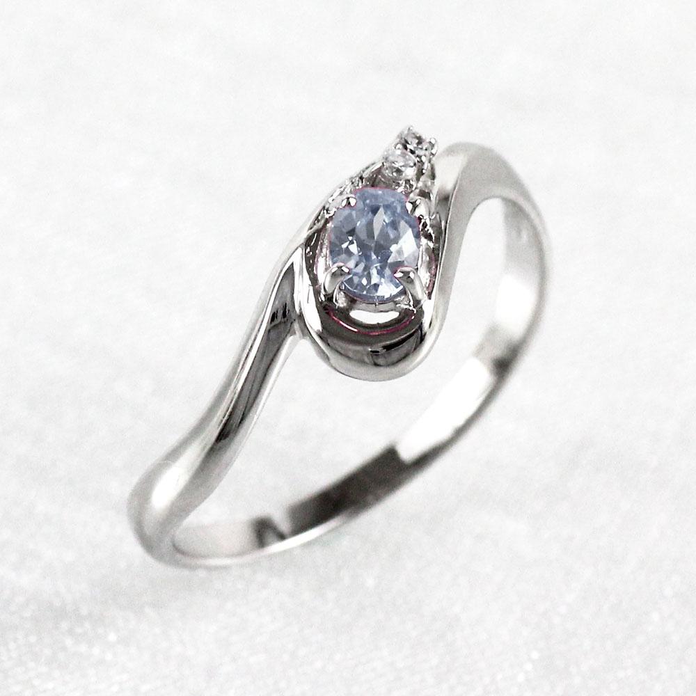【10%OFF】ムーンストーン リング カラーストーン オーバル 指輪 誕生石 ダイヤモンド レディース 一粒 カーブ ゴールド k10 10k 10金