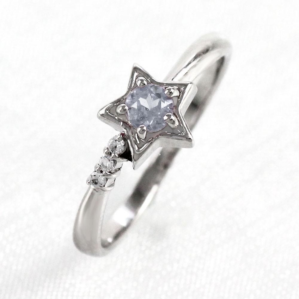 【500円OFF】ムーンストーン リング カラーストーン 指輪 誕生石 ダイヤ ダイヤモンド レディース 一粒 スター 星 ゴールド k10 10k 10金