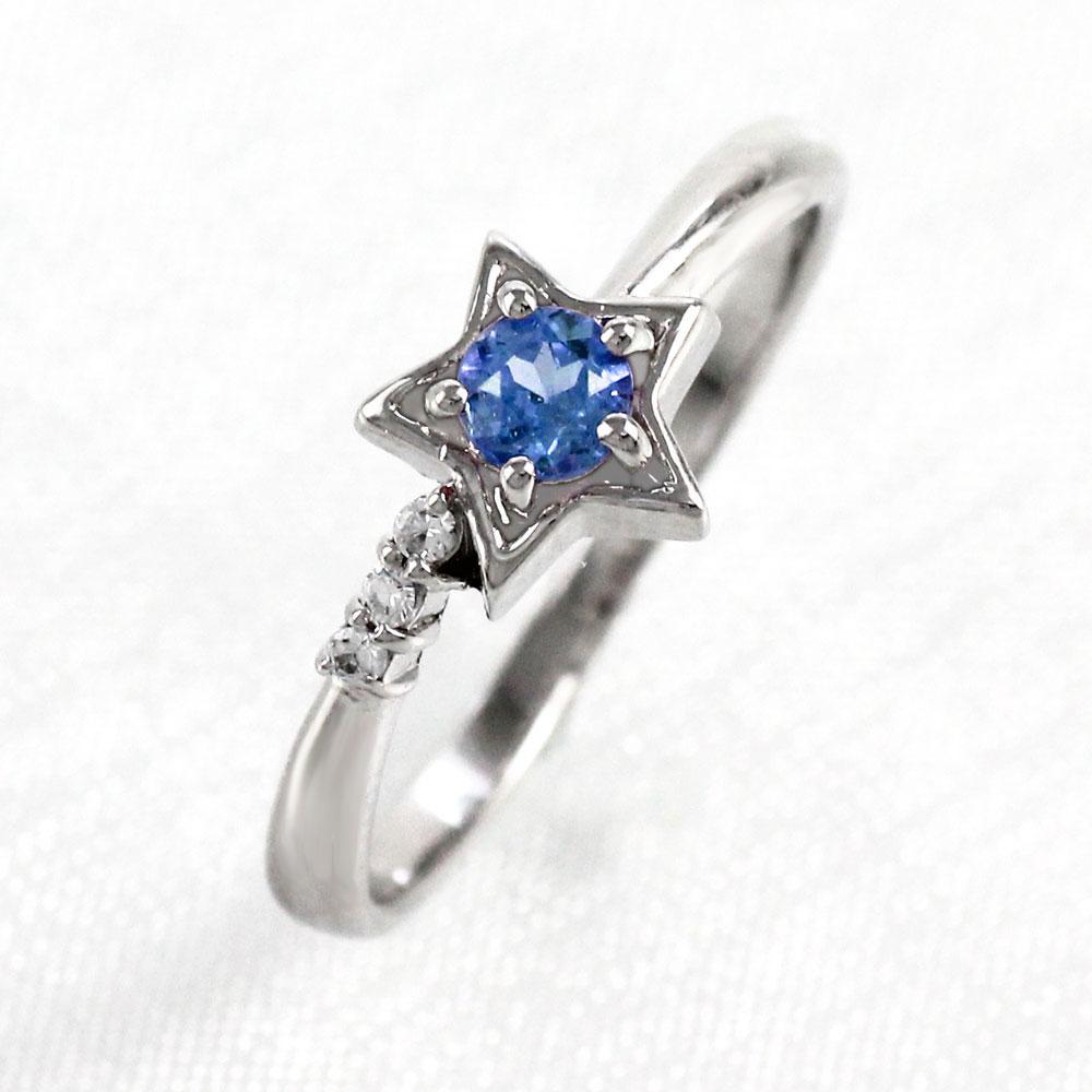 【10%OFF】サファイア リング カラーストーン 指輪 誕生石 ダイヤ ダイヤモンド レディース 一粒 スター 星 ゴールド k10 10k 10金