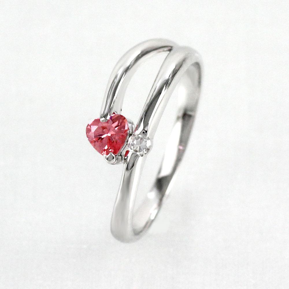 【10%OFF】ルビー リング カラーストーン ハートシェイプ ハート ダイヤモンド 指輪 誕生石 レディース 一粒 ゴールド k18 18k 18金