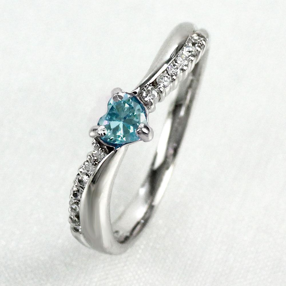 【10%OFF】リング アクアマリン ダイヤモンド ハート カラーストーン ハートシェイプ プラチナ 900 指輪 誕生石 レディース 一粒 pt900