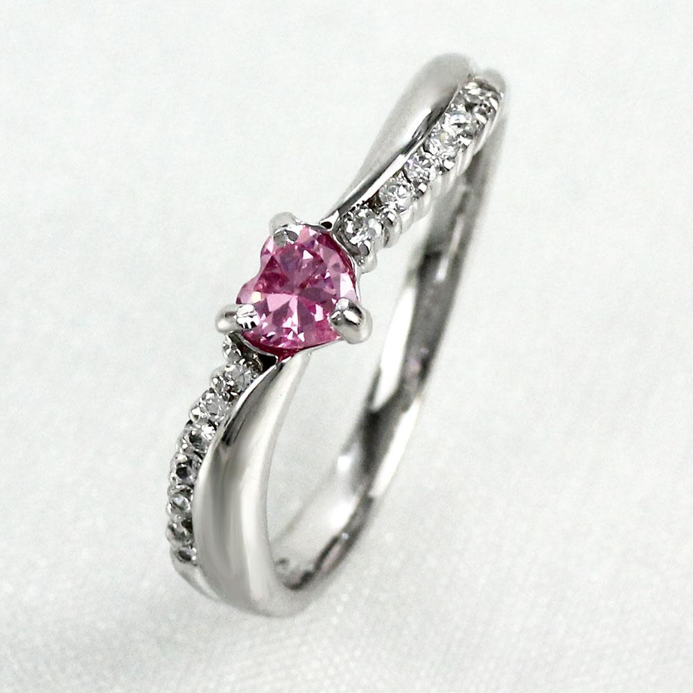 【10%OFF】リング ピンクサファイア ダイヤモンド ハート カラーストーン ハートシェイプ プラチナ 900 指輪 誕生石 レディース 一粒 pt900