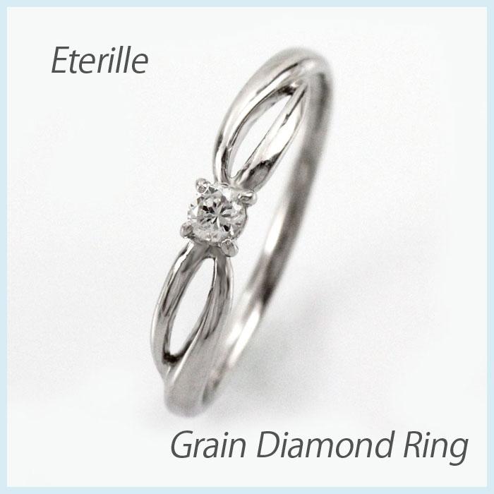 【10%OFF】ダイヤ リング 一粒 ダイヤモンド 指輪 レディース シンプル 華奢 カーブ ゴールド k10 10k 10金