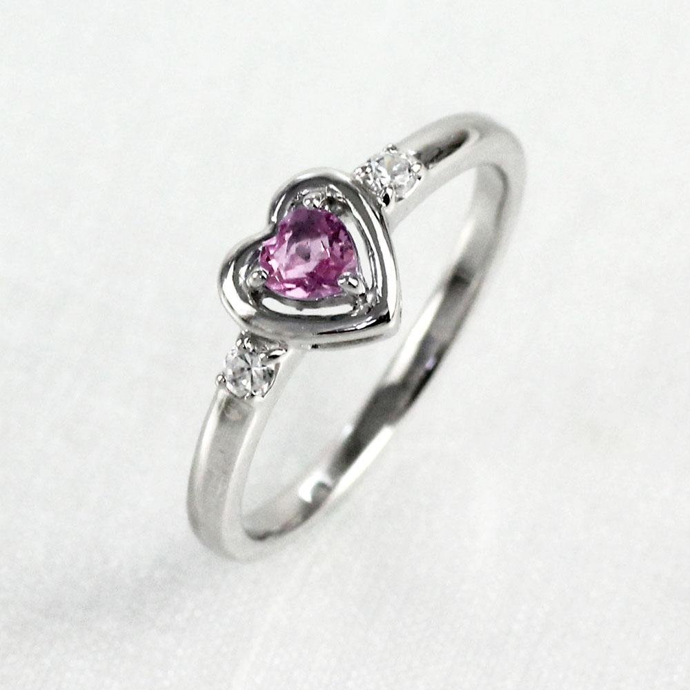 【10%OFF】リング ピンクサファイア ダイヤモンド ハート プラチナ カラーストーン ハートシェイプ 指輪 誕生石 レディース 一粒 pt900