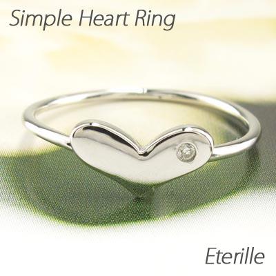 【10%OFF】ダイヤモンド リング 指輪 レディース ハート シンプル 地金 プラチナ