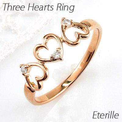 【10%OFF】ダイヤモンド リング 指輪 レディース ハート ハートモチーフ シンプル k18 18k 18金 ゴールド