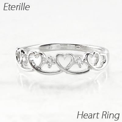 【10%OFF】ダイヤモンド リング 指輪 レディース ハート ハートモチーフ プラチナ