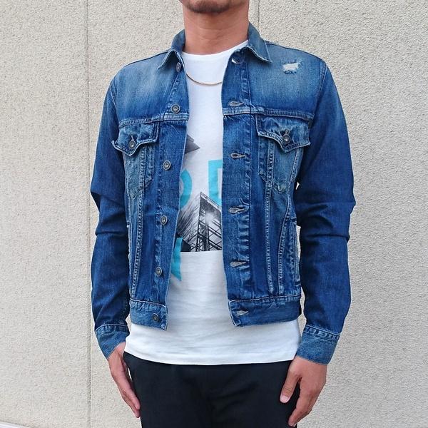 Pepe Jeans LONDON ぺぺジーンズロンドン PINNER デニムジャケット INDIGO(インディゴ) 新作 メンズファッション トップス ジャケット デニムジャケット Gジャン
