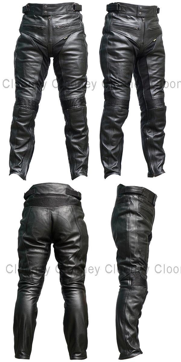 P04 本革 カウハイドレザーパンツ【牛革】【送料無料】ブーツイン メンズ【Clooney】革パンツ バイク用