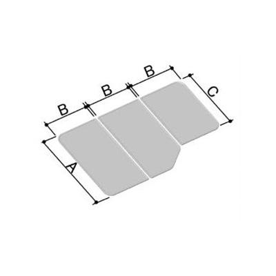 LIXIL(INAX) 組フタ 1200用組フタ(3枚) YFK-1380C(2)