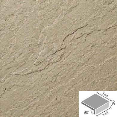 新砂岩タイル 床用 150mm角垂れ付き段鼻 NSA-151M/15N