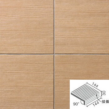 LIXIL(INAX) 陶化木(とうかもく) 150mm角垂れ付き段鼻(接着) TOM-151/5