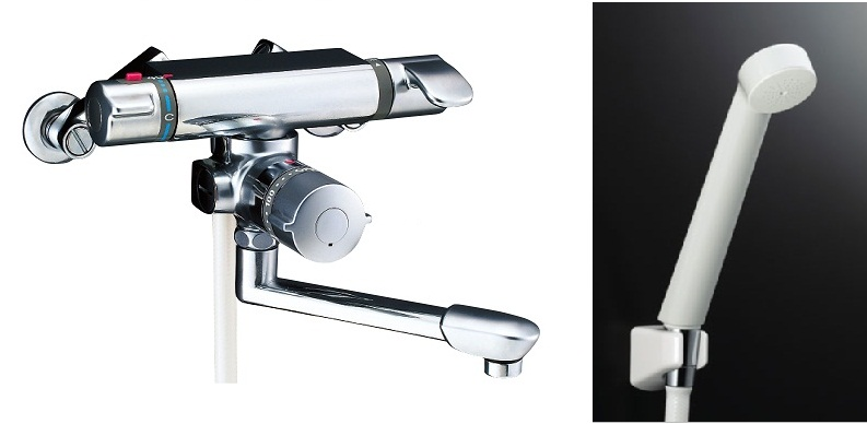 LIXIL(INAX)シャワーバス水栓 定量止水付サーモスタットシャワーバス水栓BF-7140TSD