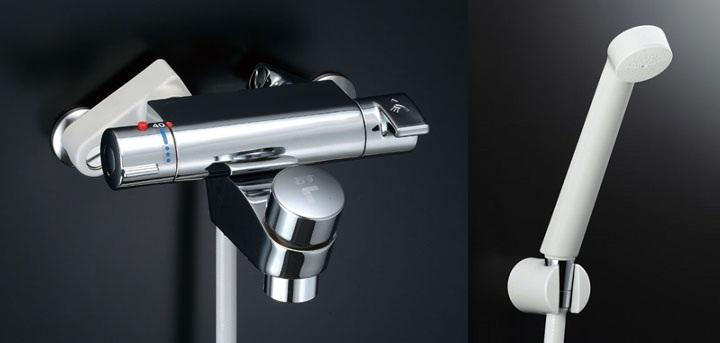 LIXIL(INAX)セルフストップ付洗い場専用 サーモスタットシャワーバス水栓(吐水口側セルフストップ付)BF-2141TSD