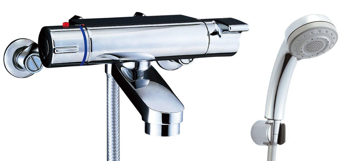 LIXIL(INAX)シャワーバス水栓 サーモスタット付シャワーバス水栓 エコフル多機能シャワーBF-2147TKSB