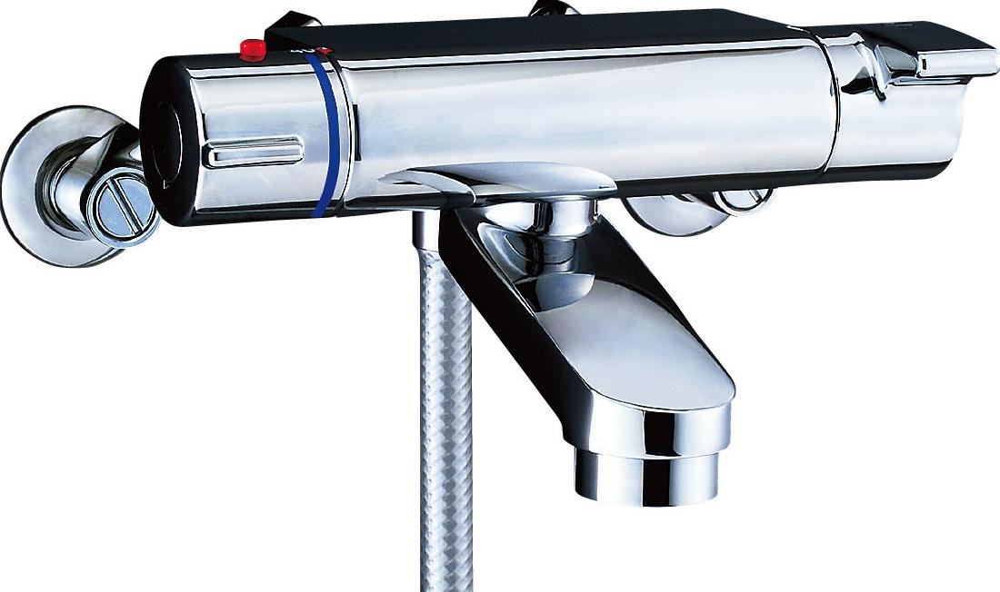 シャワーバス水栓 サーモスタット付シャワーバス水栓 エコフルスイッチシャワー BF-2147TKSDW