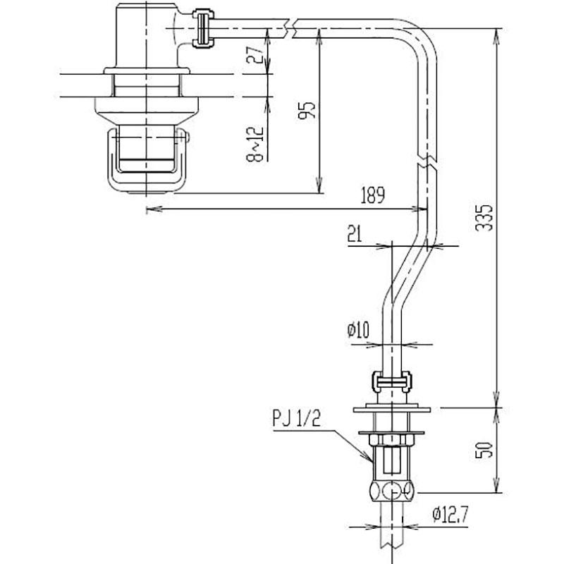 水栓部品 プッシュ式水栓部 LF-72P