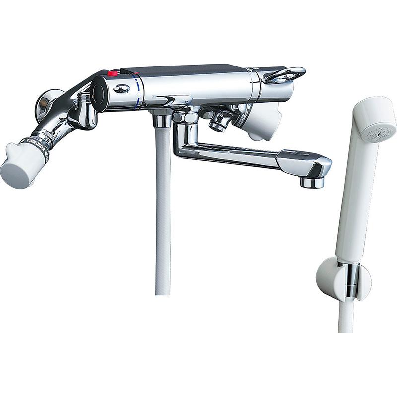 他熱源併用タイプ太陽熱温水器用 サーモスタット付シャワーバス水栓 スプレーシャワー BF-B145TS