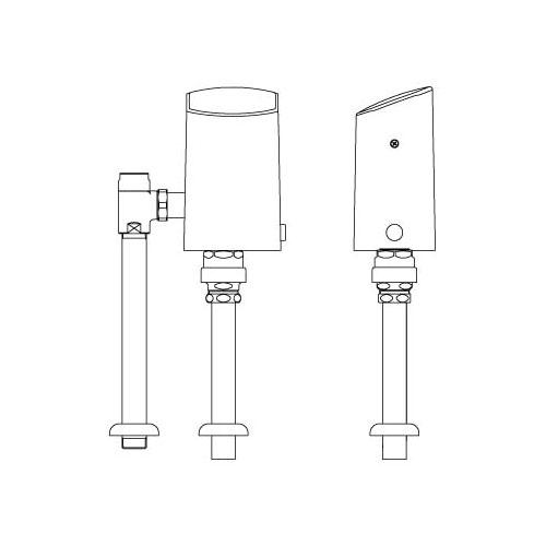 オートフラッシュC セパレート形 自動フラッシュバルブ(床給水形)(中水用) OKC-510-CS