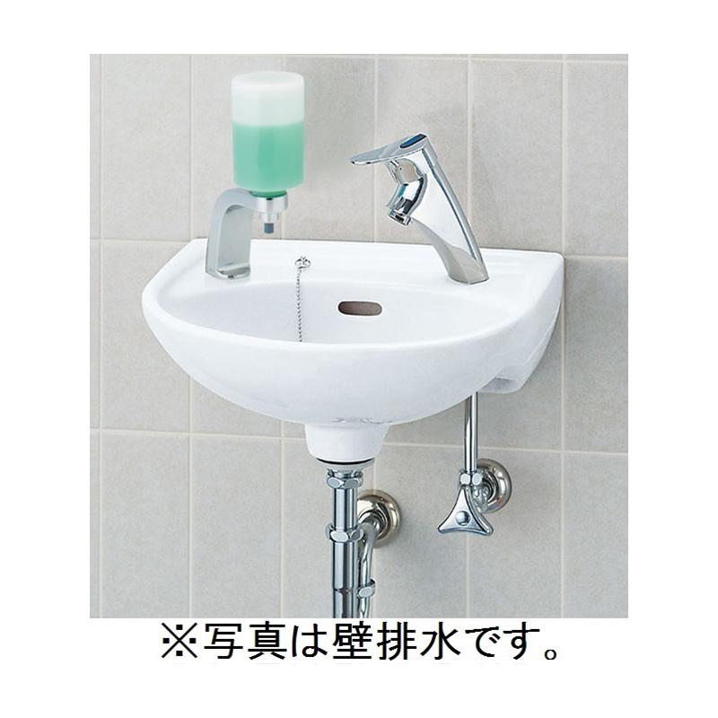 LIXIL(INAX) 平付大形手洗器(水栓穴2)壁排水セット L-15G/○○+LF-47+KF-24F