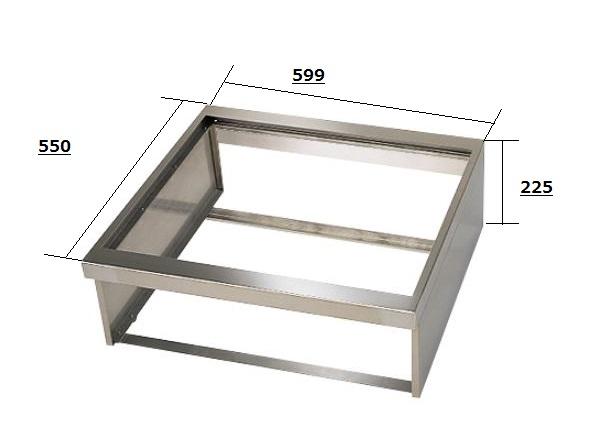三菱 ビルトイン型用設置枠 トップ幅60cm用 CS-ZWAKU60