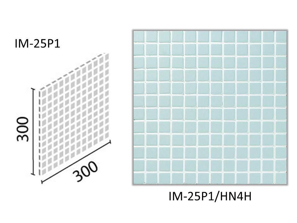 INAX ★出荷単位:ケース(22シート入) 面状に特長があるやわらかい質感を持ち、内装壁と浴室床に使用できるモザイクタイルです。  インテリアモザイク ハーニング 25mm角ネット張り IM-25P1/HN4H