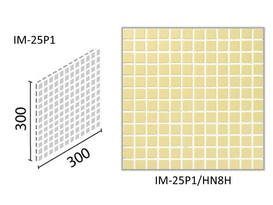 INAX ★出荷単位:ケース(22シート入) 面状に特長があるやわらかい質感を持ち、内装壁と浴室床に使用できるモザイクタイルです。  インテリアモザイク ハーニング 25mm角ネット張り IM-25P1/HN8H