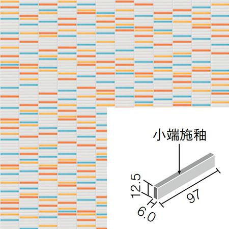 インテリアモザイクピュアボニート IM-1016/PBT-1(U) 片面小端施釉(長辺)