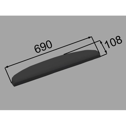 ヘッドレスト YCH-5A/K ブラック [新品]
