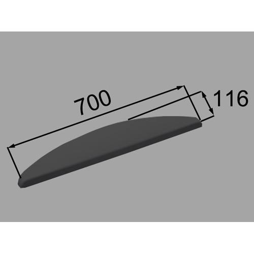 ヘッドレスト YCH-7A/K ブラック [新品]