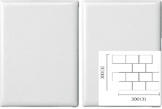 名古屋モザイク PURITY ピュリティ 100×75角平紙貼り(レンガ貼り) (ケース)PUR-R-1