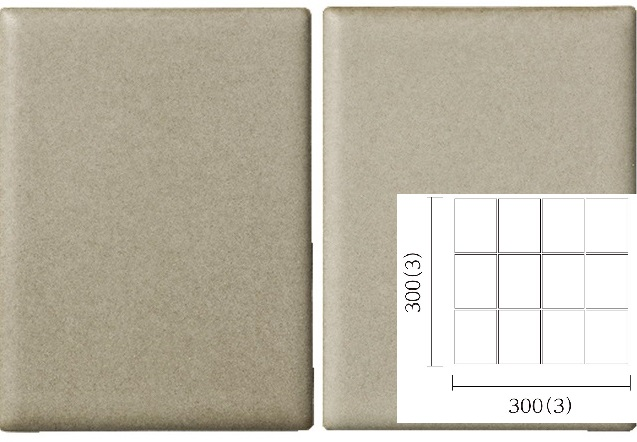 名古屋モザイク PURITY ピュリティ 100×75角平紙貼り(スダレ貼り) (ケース)PUR-S-3