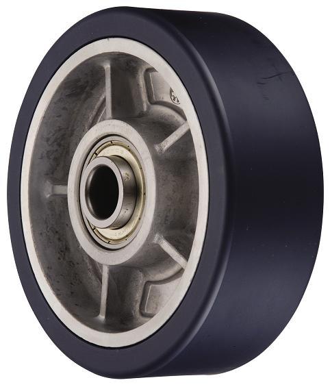 岐阜産研工業(ウカイ) RRタイプ 車輪 サイズ200mm 重荷重用ダイカスト製MCナイロン車輪 RR-200