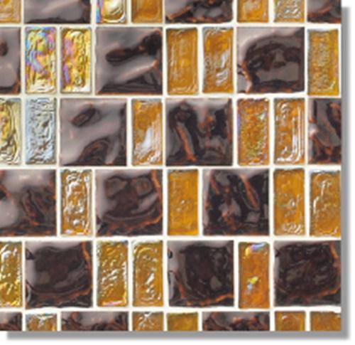 ニッタイ工業株式会社 アートモザイク コレクション グライル GR-05 平(ガラス+タイル)(ユニット)