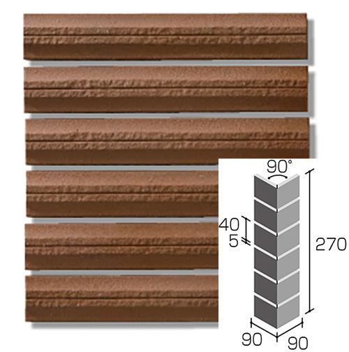 ニッタイ工業株式会社 外装壁タイル バルトロボーダー(接着剤張り工法) BLT-6M-50 ボーダー曲り(ユニット)(接着)