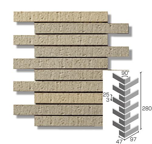 ニッタイ工業株式会社 外装壁タイル エルタボーダー(接着剤張り工法) ELT-14M ボーダー曲り(接着)(ユニット)