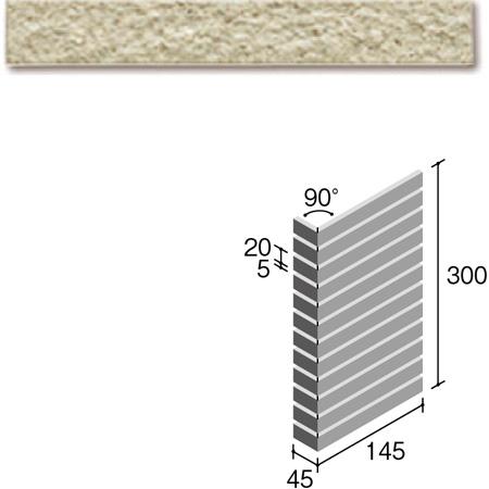 ニッタイ工業株式会社 外装壁タイル フレーバー(接着剤張り工法) FL203/1ASM ボーダー曲り(ユニット)