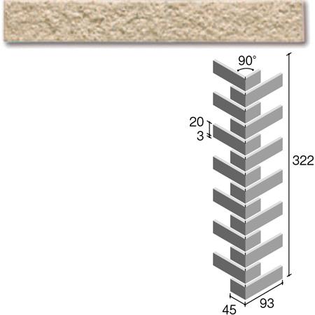 ニッタイ工業株式会社 外装壁タイル フレーバー(接着剤張り工法) FL203/4BRM ボーダー曲り(ユニット)(接着)