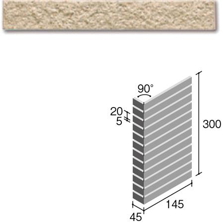 ニッタイ工業株式会社 外装壁タイル フレーバー(接着剤張り工法) FL203/4BSM ボーダー曲り(ユニット)