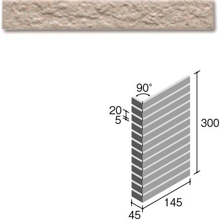 ニッタイ工業株式会社 外装壁タイル フレーバー(接着剤張り工法) FL203/5BSM ボーダー曲り(ユニット)