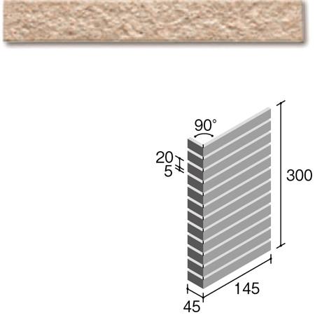 ニッタイ工業株式会社 外装壁タイル フレーバー(接着剤張り工法) FL203/5CSM ボーダー曲り(ユニット)