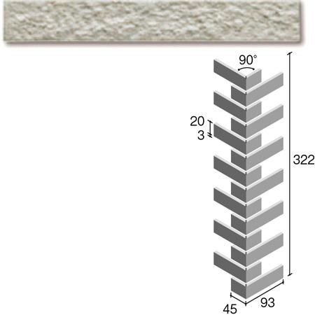 ニッタイ工業株式会社 外装壁タイル フレーバー(接着剤張り工法) FL203/6ARM ボーダー曲り(ユニット)(接着)