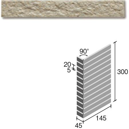 ニッタイ工業株式会社 外装壁タイル フレーバー(接着剤張り工法) FL203/6BSM ボーダー曲り(ユニット)