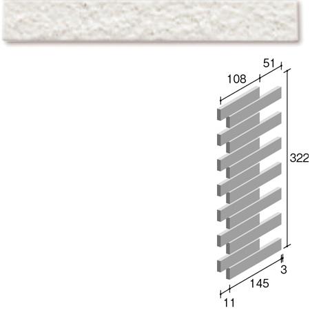 ニッタイ工業株式会社 外装壁タイル フレーバー(接着剤張り工法) FL203/7RC ボーダー出隅(ユニット)