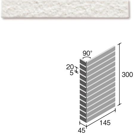 ニッタイ工業株式会社 外装壁タイル フレーバー(接着剤張り工法) FL203/7SM ボーダー曲り(ユニット)