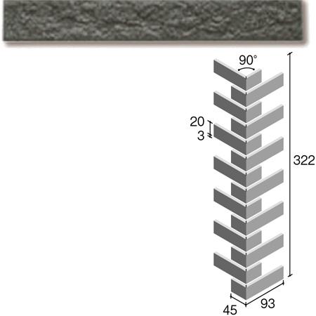 ニッタイ工業株式会社 外装壁タイル フレーバー(接着剤張り工法) FL203/8RM ボーダー曲り(ユニット)(接着)