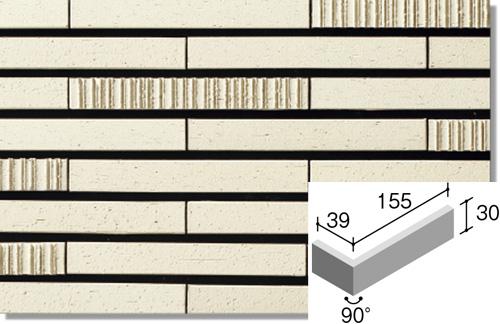 ニッタイ工業株式会社 GDM-6H-10 グラデミックス(接着剤張り工法) ボーダー曲り(接着) 外装壁タイル