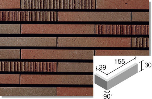 ニッタイ工業株式会社 外装壁タイル グラデミックス(接着剤張り工法) GDM-6H-30 ボーダー曲り(接着)